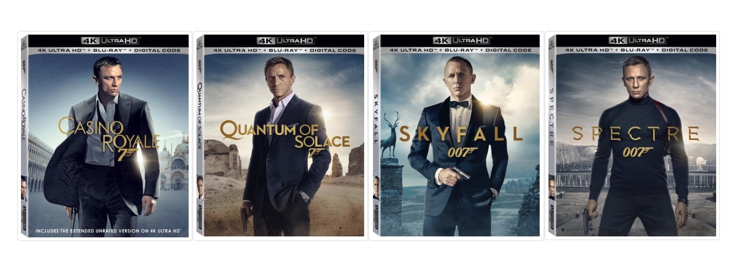 Daniel Craig Bond films individually on 4K – HighDefDiscNews